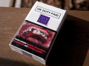 Устрашающие картинки на пачках сигарет