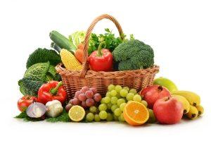Употребление овощей и фруктов