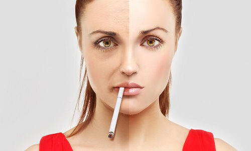 Влияние курения на кожу лица