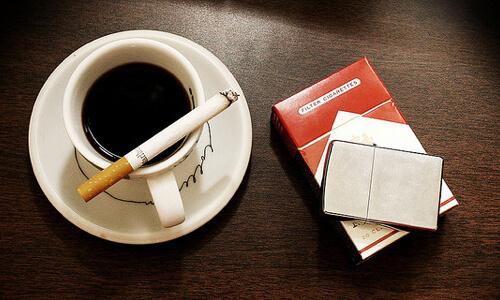 Сигареты с кофе
