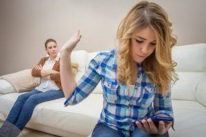 Начало курения при конфликтах в семье