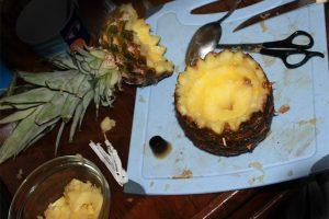 Подготовка ананаса для кальяна