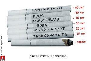 Болезни и неприятные последствия курения