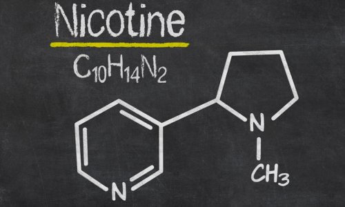 Формула и молекула никотина