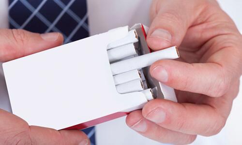 Курение легких сигарет