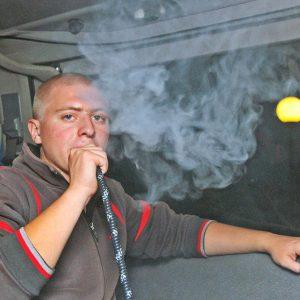 Вождение после курения кальяна