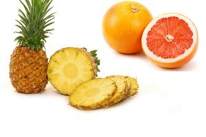 Сочетание ананаса и грейпфрута
