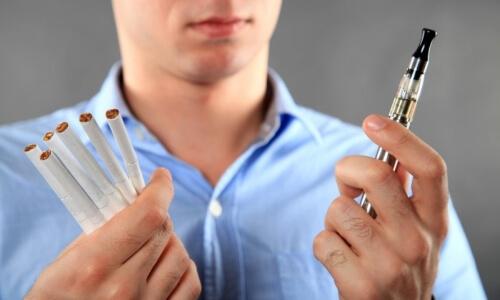 Электронные и обычные сигареты