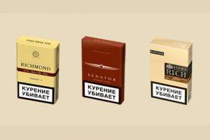 """Виды сигарет """"Ричмонд"""""""
