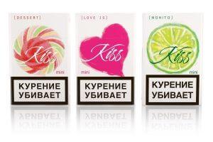 """Основные вкусы сигарет """"Kiss"""""""