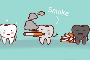 Появление налета на зубах при курении